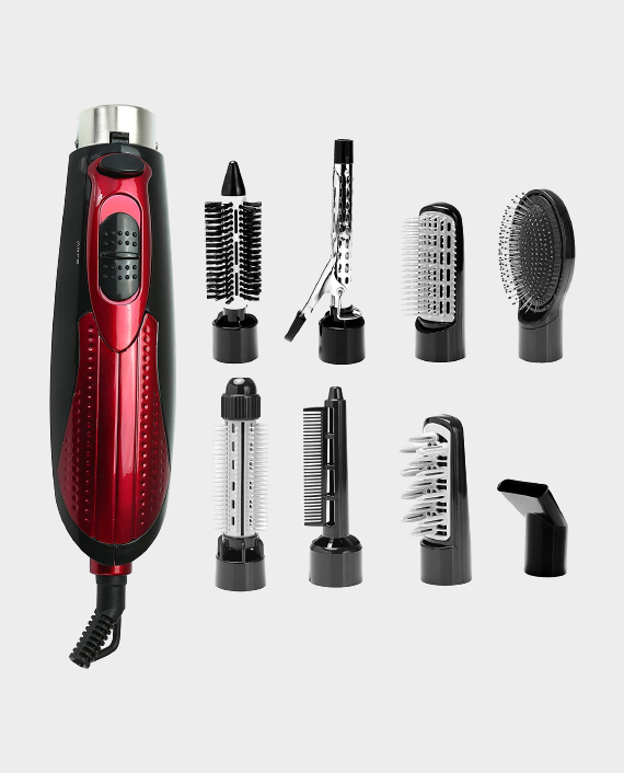 Olsenmark OMH4029 8 in 1 Multi-Function Hair Styler Black/Red in Qatar