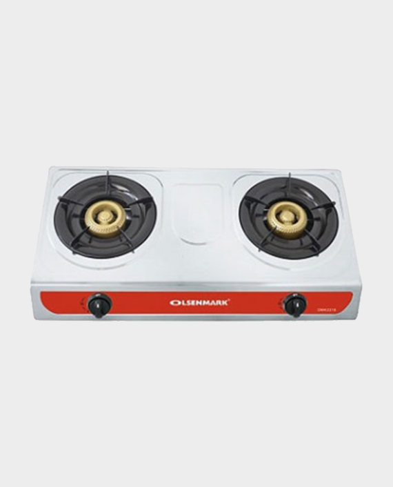Olsenmark OMK2316 Stainless Steel Double Gas Burner in Qatar