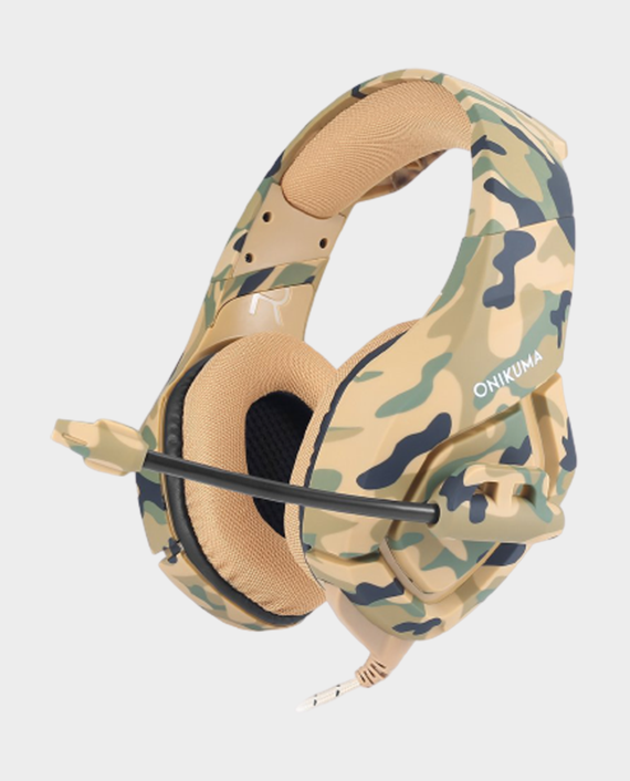 Onikuma K1-B Professional Gaming Headset Camouflage Yellow in Qatar