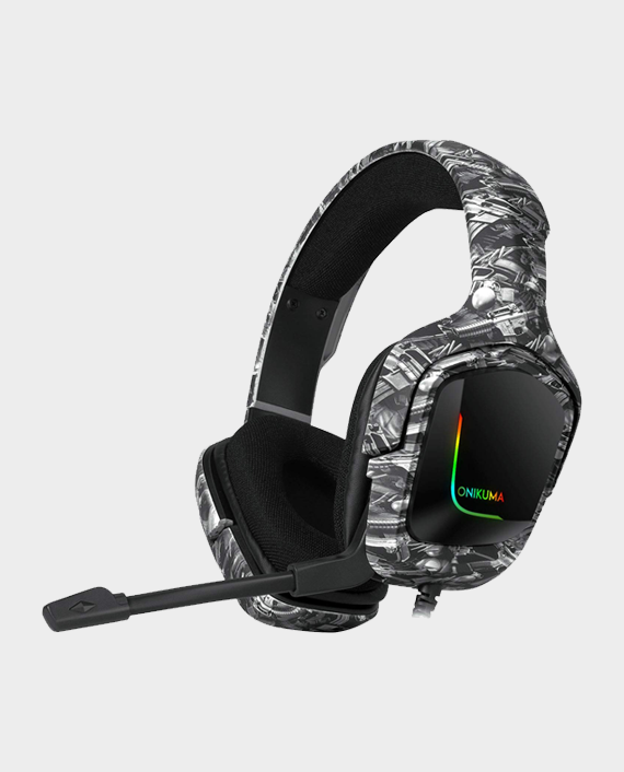 Onikuma K20 Professional Gaming Headset Camou Grey in Qatar
