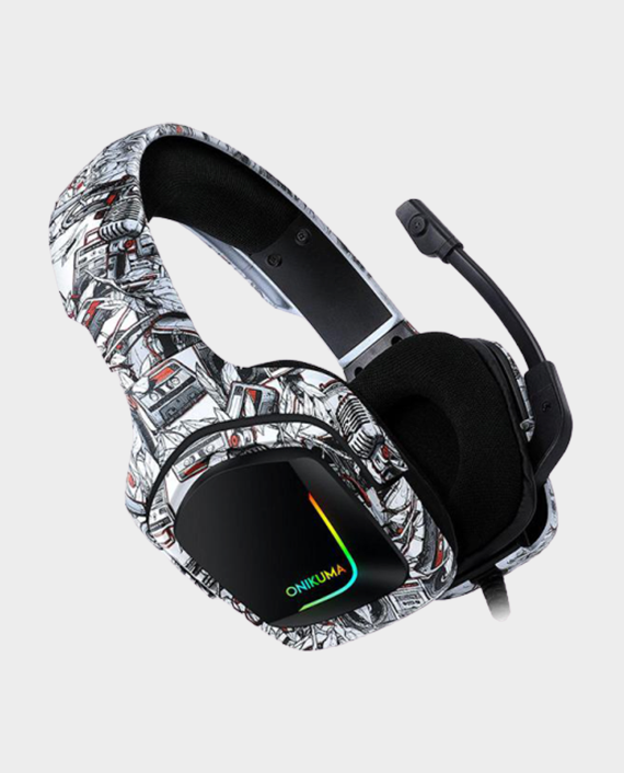Onikuma K20 Professional Gaming Headset Camou White