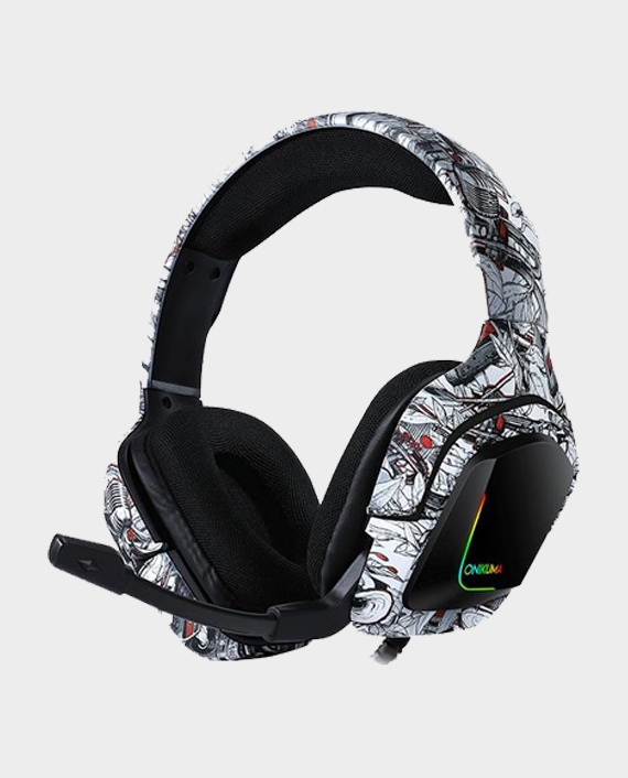 Onikuma K20 Professional Gaming Headset Camou White in Qatar