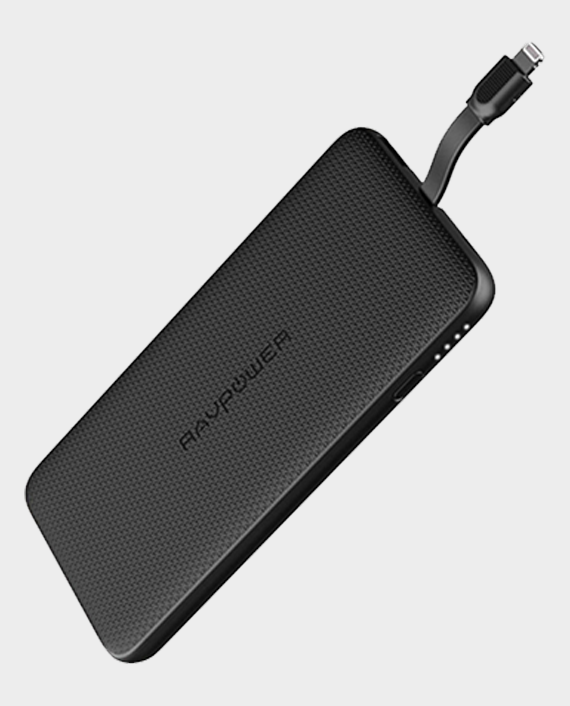 RAVPower Blade Series Portable Powerbank 10000mAh With Built-in Lightning Cable in Qatar