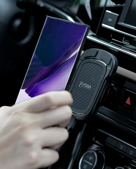 Pitaka MagEZ Case For Samsung Galaxy Note 20 Ultra Black Grey Twill