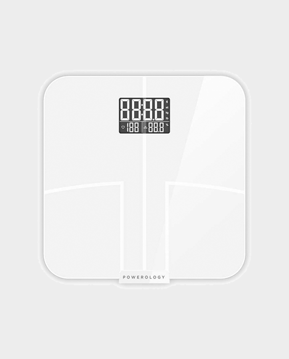 Powerology Smart Body Scale Pro with Advanced Features - White in Qatar