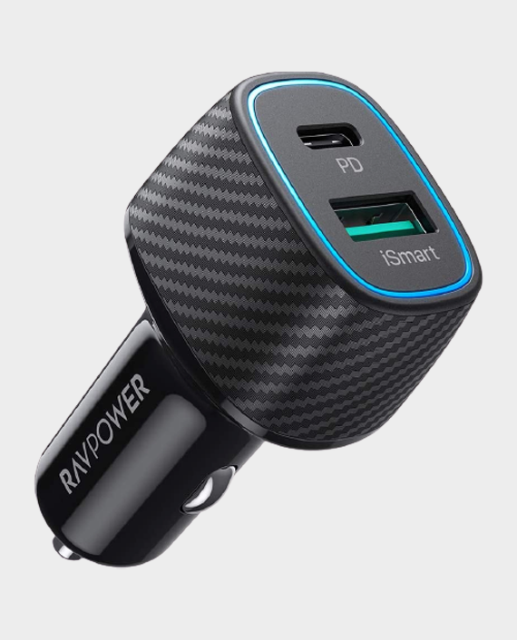 RAVPower PD Pioneer 48W 2-Port USB Car Charger in Qatar