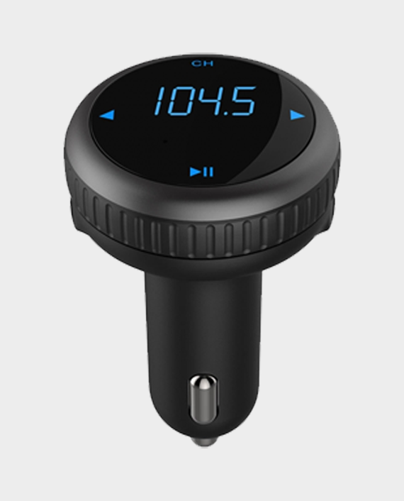 Porodo Wireless FM Transmitter Car Charger With LED Panel Car Locator in Qatar