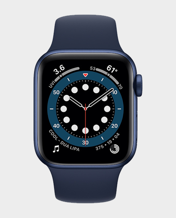 Apple Watch Series 6 MG2A3AE/A 40mm Cellular - Blue Aluminium Case With Blue Sport Band in Qatar