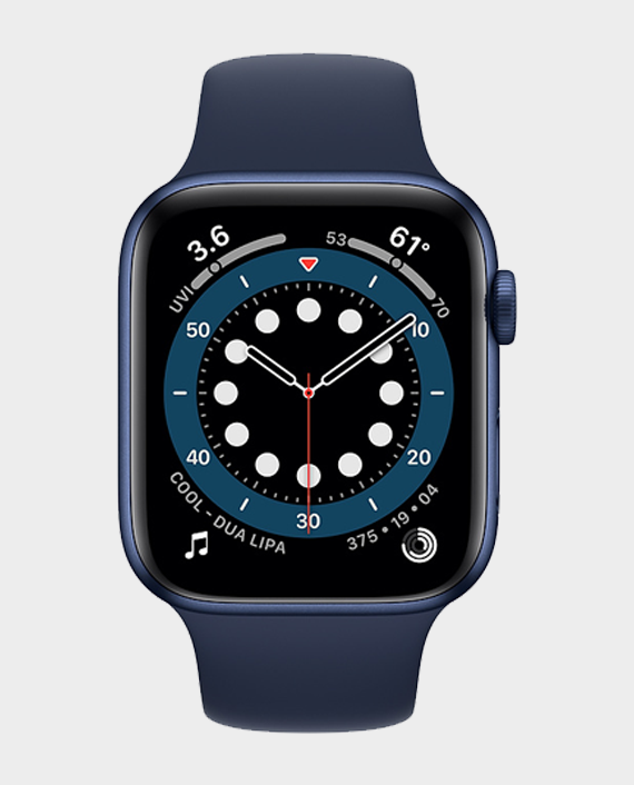 Apple Watch Series 6 M00J3 44mm GPS Blue Aluminium Case with Deep Navy Sport Band in Qatar