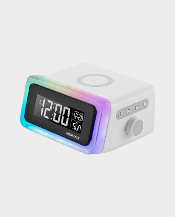 Momax Q Clock 2 Digital Clock with Wireless Charger in Qatar