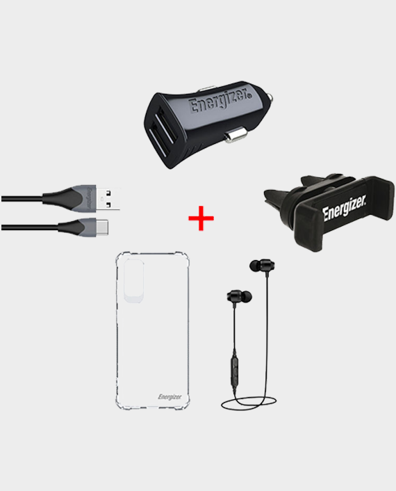 Energizer All-In-One Car Kit+Earphone+Case Protector Galaxy S20 Ultra - AIOS20U in Qatar