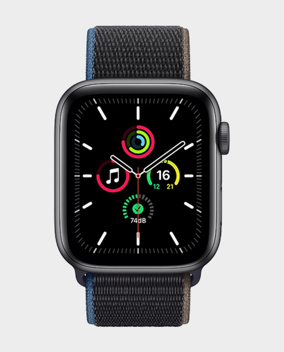 Apple Watch SE MYF12A GPS + Cellular 44mm Space Gray Aluminum Case With Charcoal Sport Loop