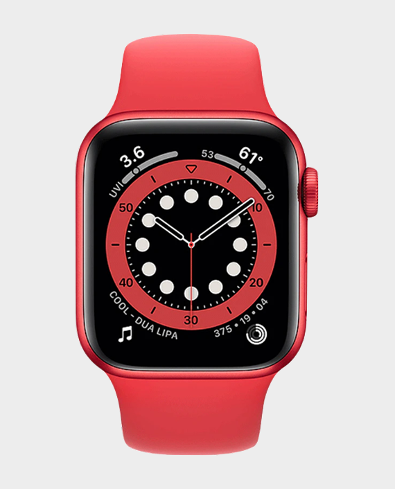 Apple Watch Series 6 M09C3A 44mm GPS + Cellular Red Aluminium Case with Red Sport Band in Qatar