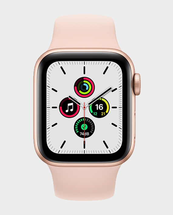 Apple Watch SE MYDN2A GPS 40mm Gold Aluminum Case with Pink Sand Sport Band in Qatar