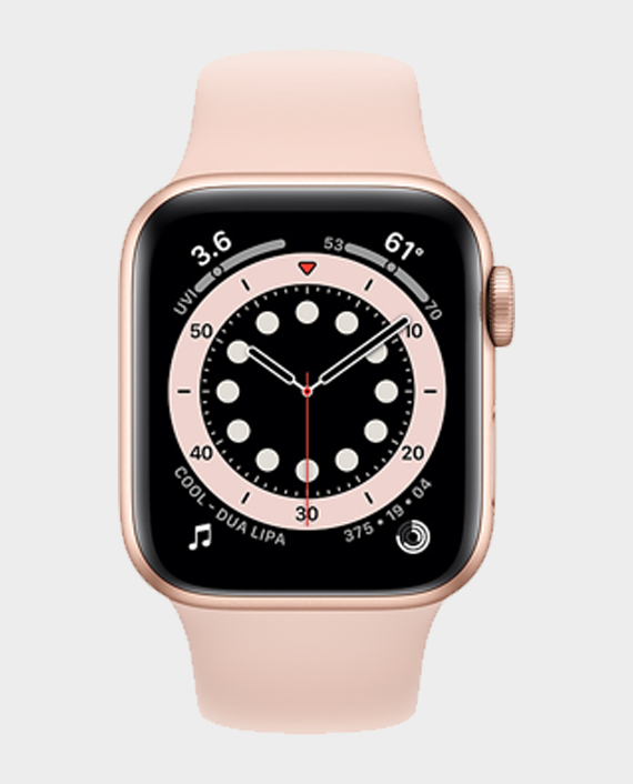 Apple Watch Series 6 MG123A GPS 40mm Gold Aluminum Case With Pink Sand Sport Band in Qatar