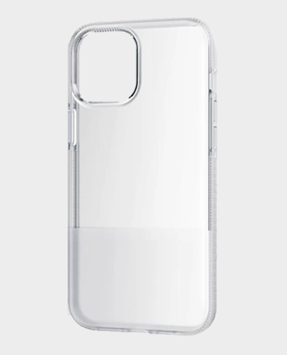 Bodyguardz iPhone 12 Pro Max Stack Protective Bold Two-Toned Case White/Clear in Qatar