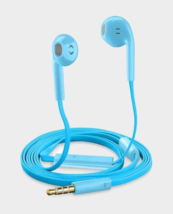 Cellularline Slug Universal Mic Capsule Earphone Blue in Qatar