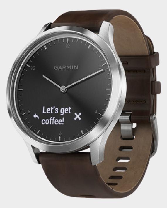 Garmin 010-01850-34 Vivomove HR L Smartwatch Black Silver in Qatar