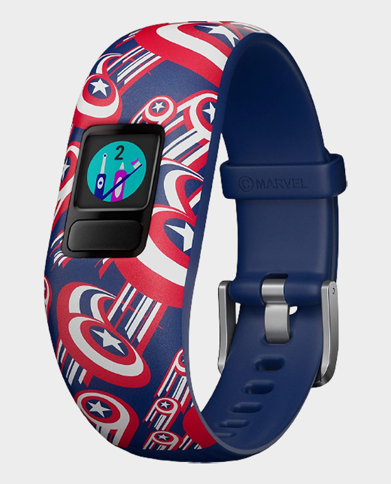 Garmin 010-01909-12 Vivofit Jr.2 Adjustable Smartwatch Marvel Avengers Captain America in Qatar