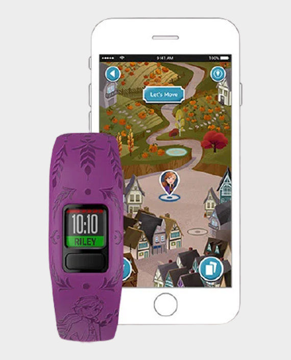 Garmin 010-01909-19 Vivofit Jr.2 Adjustable Smartwatch Disney Frozen 2 Anna