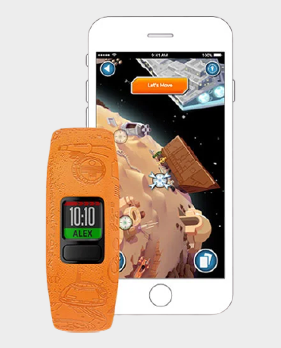 Garmin 010-01909-1A Vivofit Jr.2 Adjustable Smartwatch Star Wars Light Side