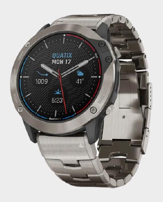 Garmin 010-02157-31 Quatix 6x Solar Marine Smartwatch Titanium in Qatar