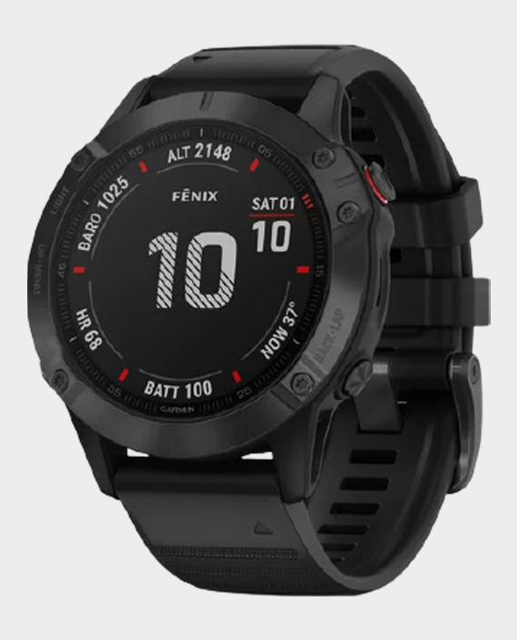 Garmin 010-02158-02 Fenix 6 Pro Smartwatch Black in Qatar