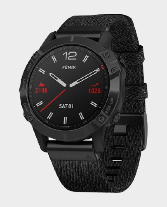 Garmin Fenix 6 Pro Sapphire Edition Smartwatch Black Nylon in Qatar