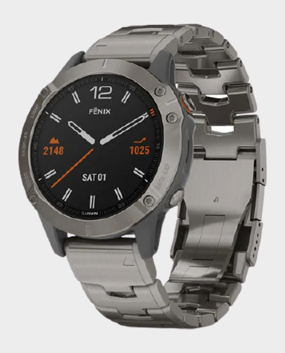 Garmin 010-02158-23 Fenix 6 Pro and Sapphire Edition Smartwatch Titanium in Qatar