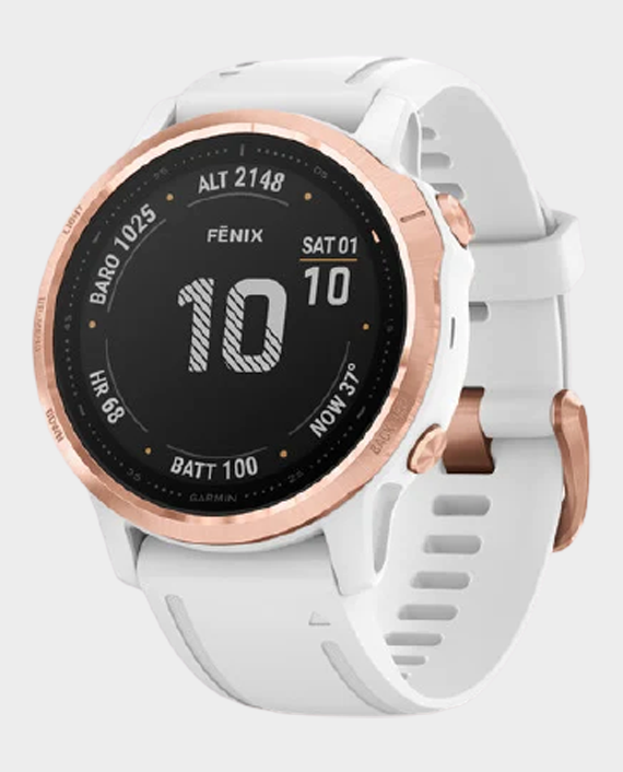 Garmin 010-02159-11 Fenix 6S Pro Sapphire Edition Smartwatch Rose Gold White in Qatar