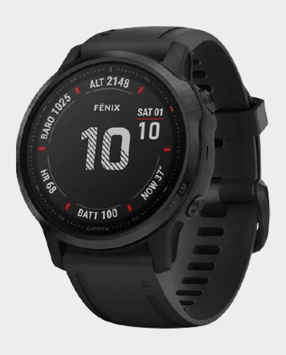 Garmin 010-02159-14 Fenix 6S Pro Sapphire Edition Smartwatch Black in Qatar