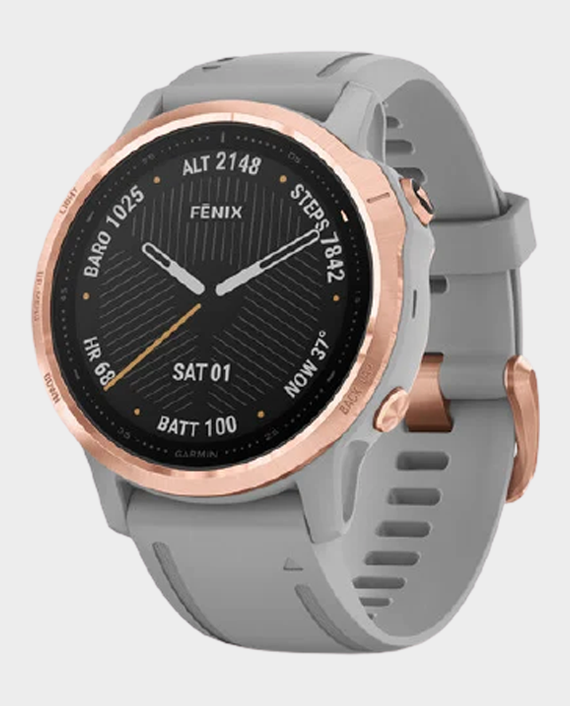 Garmin 010-02159-21 Fenix 6S Pro Sapphire Edition Smartwatch Rose Gold Grey in Qatar