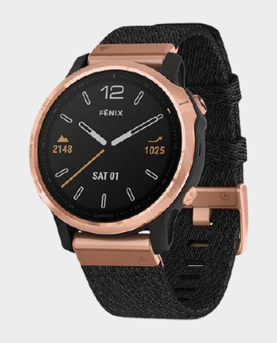 Garmin 010-02159-37 Fenix 6S Pro Sapphire Edition Smartwatch Rose Gold Black Nylon in Qatar