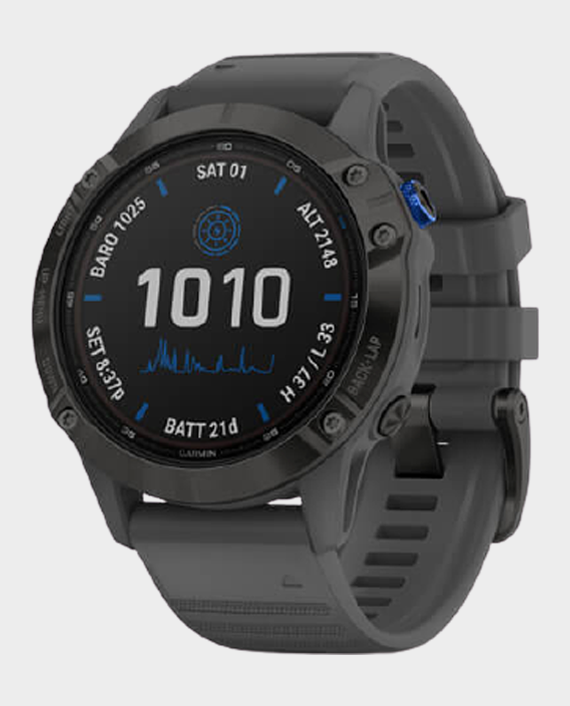 Garmin 010-02410-11 Fenix 6 Pro Solar Edition Smartwatch Black Slate Grey in Qatar