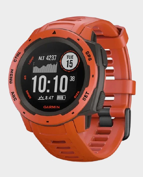 Garmin Instinct 010-02064-02 Smartwatch Flame Red in Qatar
