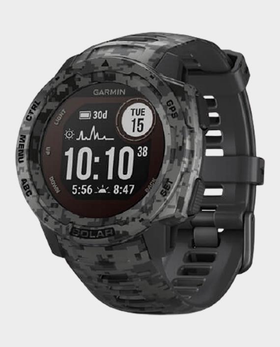 Garmin Instinct Solar 010-02293-05 Camo Edition Smartwatch Camo Graphite Camo in Qatar