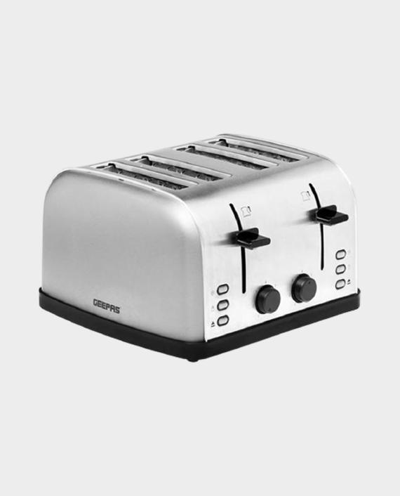 Geepas GBT36507UK 1500W 4 Slice Stainless Steel Toaster in Qatar