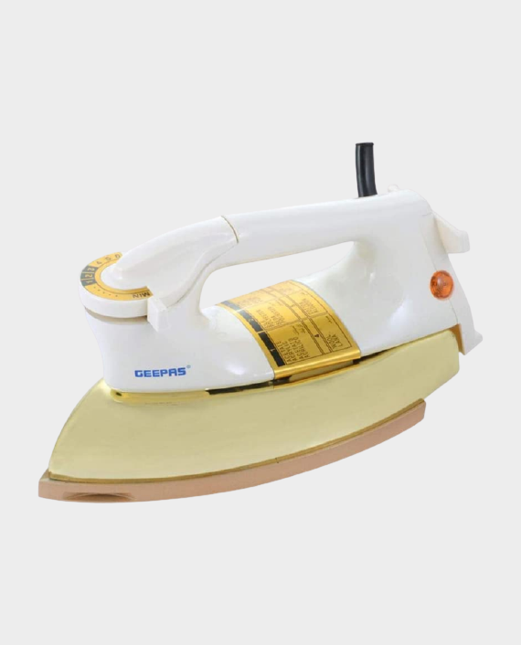 Geepas GDI2750 Dry Iron With Golden Cover White in Qatar