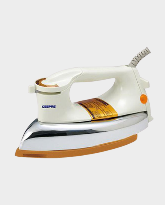 Geepas GDI2771 Dry Iron with Non-Stick Teflon Coated Plate Beige in Qatar