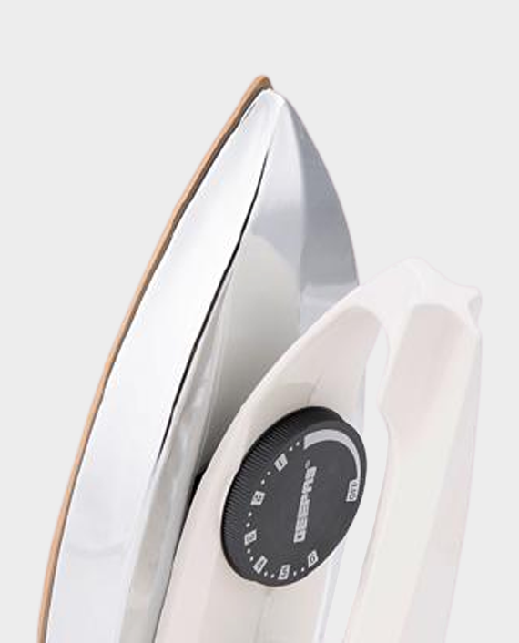 Geepas GDI7729 Dry Iron With Nonstick Golden Teflon Plate