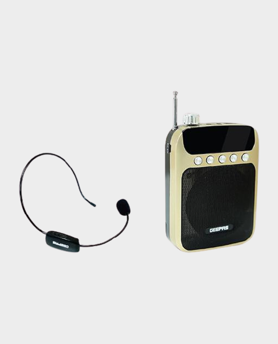 Geepas GMP15012 Rechargeable Mini Speaker with Wireless Microphone in Qatar