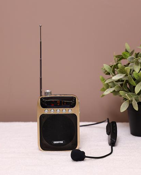 Geepas GMP15012 Rechargeable Mini Speaker with Wireless Microphone