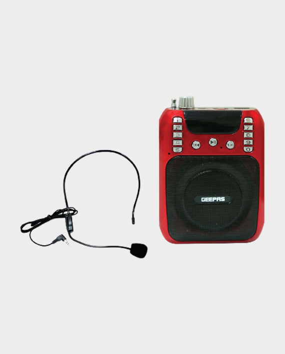 Geepas GMP15013 Rechargeable Mini Speaker with Headset in Qatar