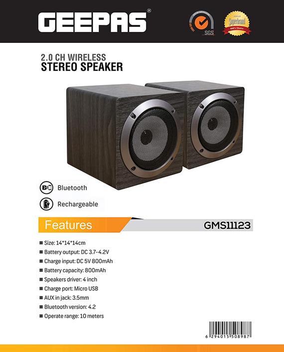 Geepas GMS11123 Rechargeable Bluetooth Speaker