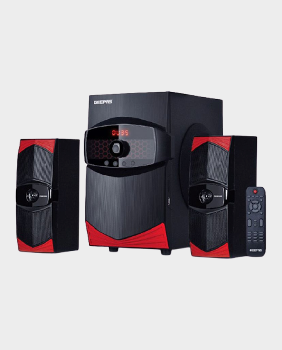 Geepas GMS8506 2.1 Channel Multimedia Speaker System With USB - SD Card Slots, FM Radio and Bluetooth Black in Qatar