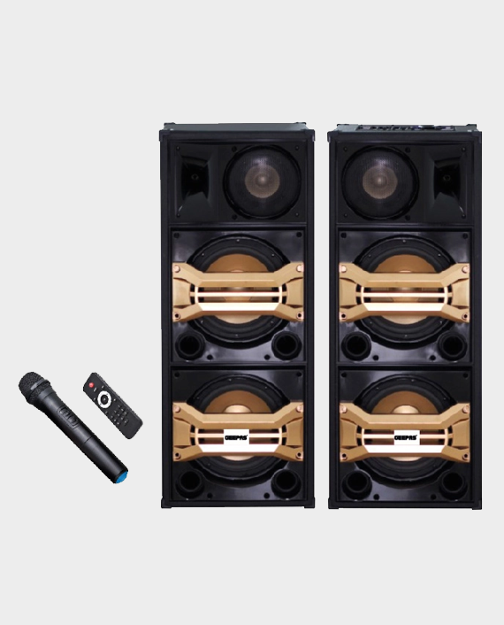 Geepas GMS8517 2.0 Channel Professional Bookshelf Speakers with Bluetooth Black in Qatar