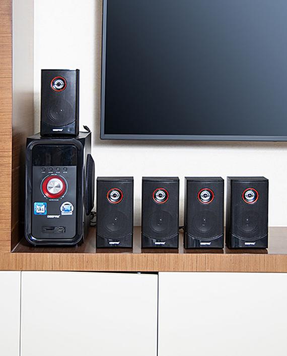 Geepas GMS8526 5.1 Channel Multi Media Speaker