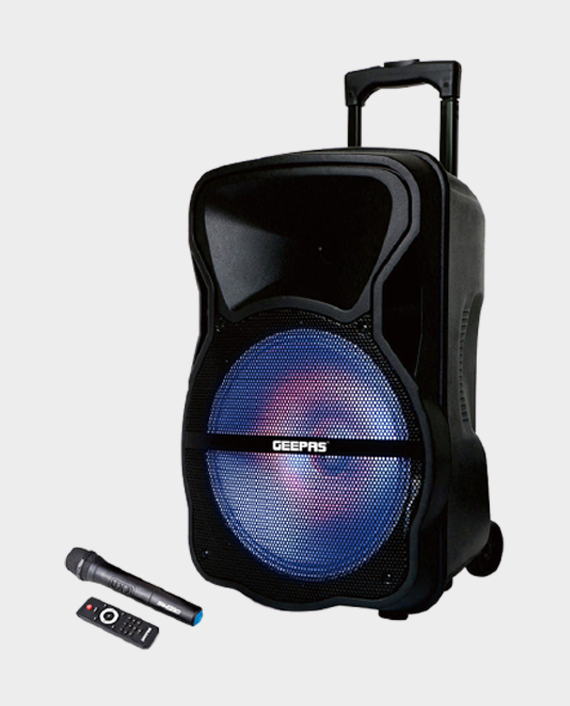 Geepas GMS8568 Portable & Rechargeable Professional Speaker with Remote Control in Qatar