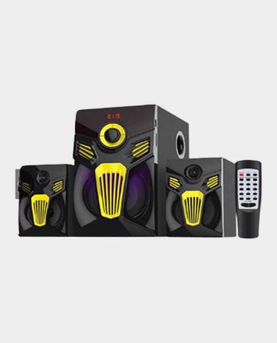 Geepas GMS8580 2.1 Channel Multimedia Speaker with Digital LED Display Black in Qatar