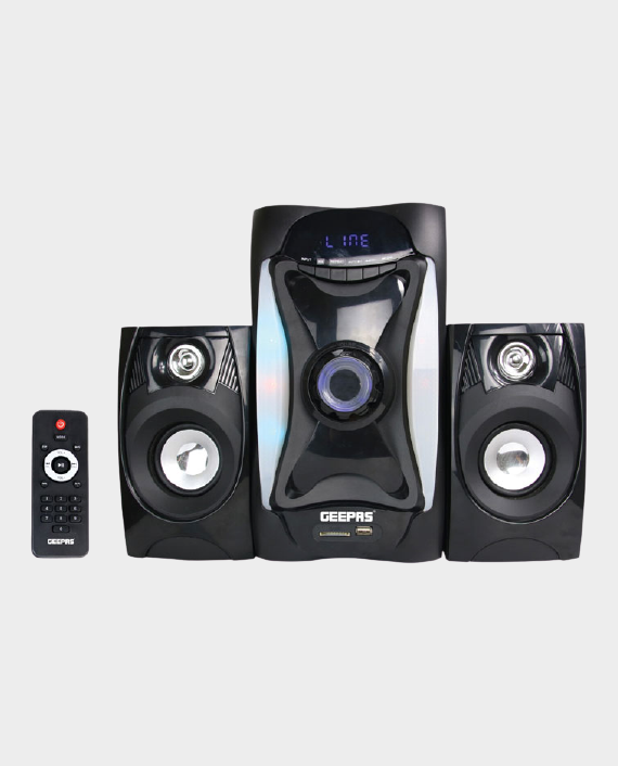 Geepas GMS8597 2.1 Multimedia Speaker System with Bluetooth Black in Qatar